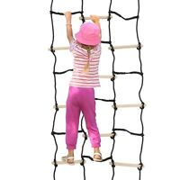 Kids Climbing Cargo Net Ropes and Wood 90 x 35 Inch Outdoor Fun for Lil Warrior