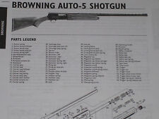 BROWNING AUTO-5 SHOTGUN EXPLODED VIEW