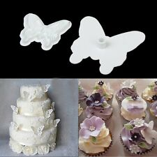 2 X Butterfly Fondant Sugarcraft Cake Decorating Icing Cutter Butterflies UK