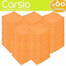 60x Naranja Limpieza del coche detallando paños de microfibra suave polaco/Toallas Grandes
