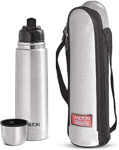 Milton Thermosteel Flip Lid Vacuum Flask & Mug Hot Cold Water Tea Bottle 500 ML