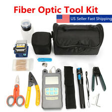 TK16 Fiber Optic FTTH Tool Kit FC-6S Cutter Fiber Cleaver Optical Power Meter