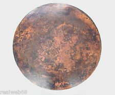 Mexican Round Copper Table Top Hand Hammered  Stained Patina 48 Inches