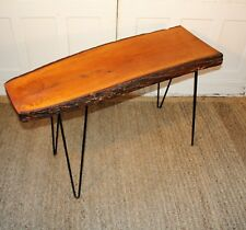 Mid Century Live Edge Sofa Table Entry Table Authentic
