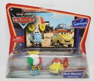 Disney Pixar Cars Movie Moments - Luigi & Guido - Diecast Supercharged Ferrari