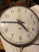 "IBM 15 1/4"" Wall Clock Industrial Schoolhouse School Decor Vintage s 1950s 5855"