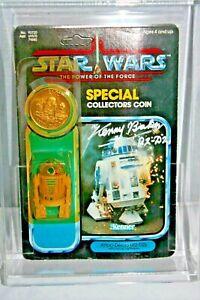 1984 Kenner STAR WARS R2-D2 w/ pop up lightsaber POTF Final 17 Autographed! AFA
