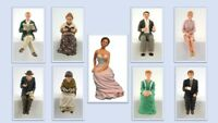 1:12 scale dolls house miniature resin people sitting 9 to choose from.