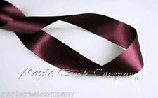 """3yd of Burgundy Wine 1/4"""" Double Face Satin Ribbon 1/4"""" x 3 yards neatly wound"""