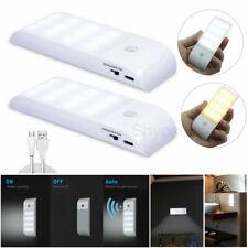 USB PIR Motion Sensor Night Light Wireless 12 LED Cabinet Closet Wardrobe Lamp
