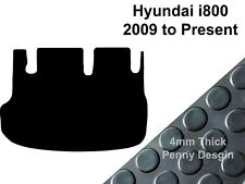 Hyundai I800 (2009 to Present) Fully Tailored Black Penny Rubber Boot Floor Mats