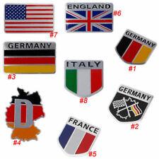 Metal Aluminum National Flag Car Sticker Logo Emblem Badge For Audi BMW VW Skoda