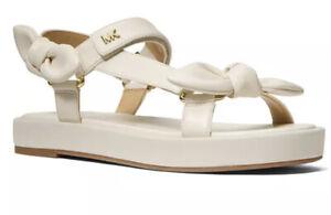Nib Michael kors phoebe sandals cream size 6