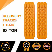PAIR Sand Tracks Recovery Tracks Traction Off Road Snow Tire Ladder 4WD Orange