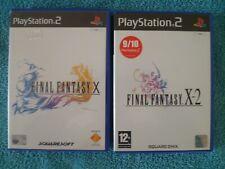 Final Fantasy X & Final Fantasy X-2 Sony PlayStation 2 Ps2 Games - PAL - Free P&
