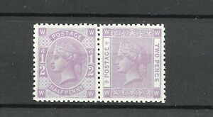 1880 Essay / proof for 1880 Tender 1/2d & 2d pair (missing 1 1/2d). Perforated.