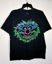 The Muppets Neon Glow In The Dark Animal T-Shirt Size Large