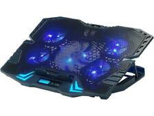 Rosewill Gaming Laptop Cooler Notebook Cooling Pad, 5 Silent Blue LED Fans with