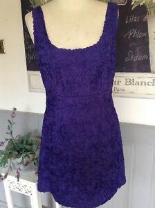 LK BENNETT DRESS 3D APPLIQUE TISSUE MOTHER OF THE BRIDE CRUISE RACES 12