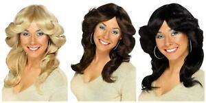 Adult Ladies 1970s Flick Wig Disco Music Icon Fancy Dress Party Costume