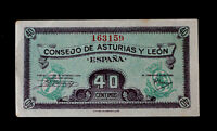 ESPAÑA/SPAIN. 40 CÉNTIMOS 1936. Consejo de Asturias y León. SS.PickS602.SC-/UNC