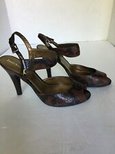 Enzo Angiolini Size 6.5 Reptile Print Brown and Black 4 in Heel- New
