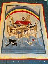 Ark Sweet Arc Animals Quilt Wall Hanging Cotton Panel - Sewing Quilting Material