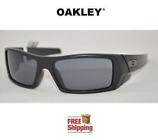 OAKLEY® SUNGLASSES GASCAN® GAS CAN MATTE FLAT BLACK GREY TINT + STORAGE BAG