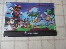 Super Mario Sunshine Nintendo Gamecube Original Store Display Promotional Banner