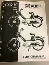 Puch Maxi-S  Custom & Deluxe Moped , Re-Print of OEM Vintage Service Manual 1975