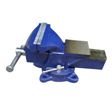 """5"""" Heavy Duty Steel Bench Vise with Anvil Swivel Table Top Clamp Locking Base"""