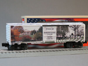LIONEL MEMORIAL DAY MADE IN USA BOXCAR O GAUGE train car US Military 6-84672 NEW