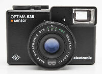 Agfa Optima 535 Sensor Sucherkamera in Schwarz mit Solitar 1:2.8 40mm Optik