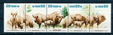 Poland MNH 5v No gum Strip, Wild Animals, Bison (D175)