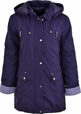 Womens Ladies Thick Padded Warm Hooded Winter Coat Jacket Size 12-24