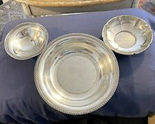 3 Sterling Silver Bowls R. Wallace Gorham Prill Soup Candy Dish 446 g Not Scrap