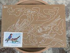 NUOVO Tavola Tavoletta legno compensato prestampata hobby mod uccelli