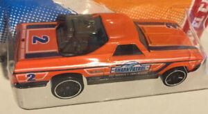 Hot Wheels '68 El Camino Thrill Racers Beach '12  Orange 1:64 FREE SHIPPING