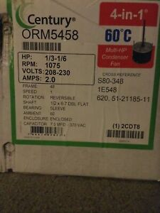 CENTURY FD6000A 1/6HP THRU 1/2HP MASTERFIT DIRECT DRIVE BLOWER MOTOR + Capacitor