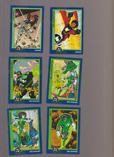 Lot of 6 DC trading cards Skybox 1993 Green Lantern Catspaw Kid Quantum