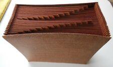 Expanding File Folder - 30 day - Brown