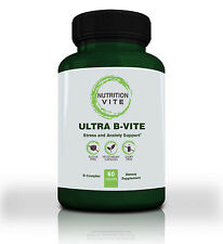 Vitamin B Complex Dietary Supplement. Ultra B-Vite 60 Capsules