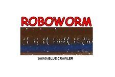 Roboworm SL-A6AO Blue Crawler 7 Inch - BULK LOT 125 Soft Plastic Baits