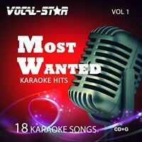 Vocal-Star Most Wanted Vol 1 Karaoke CDG CDG Disc Set - 18 Songs Including Adel