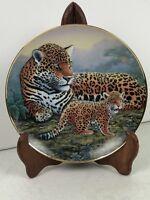 JAGUAR AND CUBS Plate Michael Matherly National Wildlife Federation Big Cats