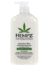 Hempz Sensitive Skin Herbal Body Moisturizer. Free of fragrance. 17oz