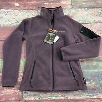 Columbia Plum Fleece Zip Up Jacket Ladies Size Small NEW