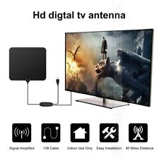 Indoor Amplified TV Aerial Digital HDTV Antenna Signal Booster 80 Miles Range