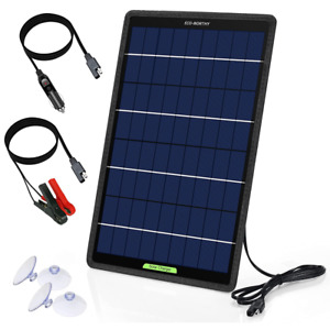 ECO-WORTHY 10W 12V Solar Trickle Charger Car Battery Panel