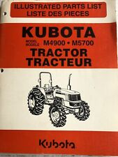 Kubota Parts Manual 97898 22280 For M4900 And M5700 Tractor